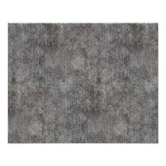 Weathered Grey Cement Sidewalk Poster