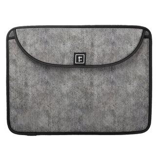 Weathered Grey Cement Sidewalk Sleeve For MacBook Pro