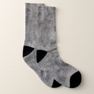 Weathered Grey Cement Sidewalk Socks