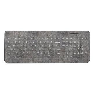 Weathered Grey Cement Sidewalk Wireless Keyboard