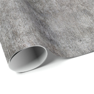 Weathered Grey Cement Sidewalk Wrapping Paper