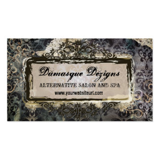 Weathered Grunge Damask Double-Sided Standard Business Cards (Pack Of 100)