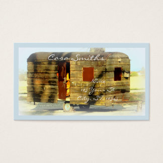 Weathered gypsy caravan Thunder_Cove any color Business Card