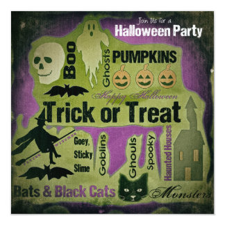 Weathered Halloween Party Invitation