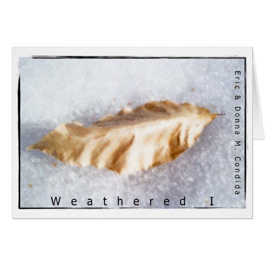 Weathered I Card