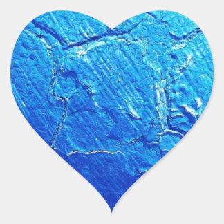 Weathered In Blue Heart Sticker