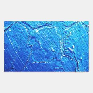 Weathered In Blue Rectangular Sticker