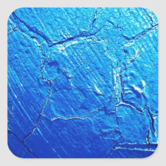 Weathered In Blue Square Sticker
