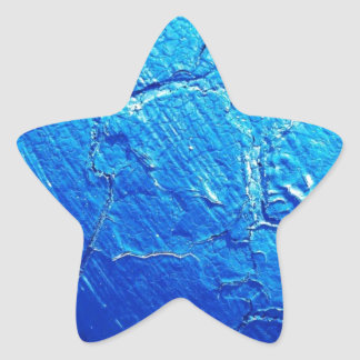 Weathered In Blue Star Sticker