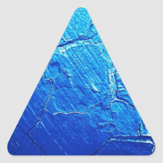 Weathered In Blue Triangle Sticker