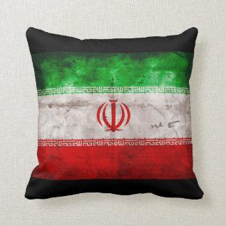 Weathered Iran Flag Throw Pillow