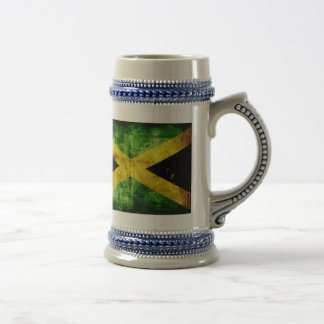 Weathered Jamaica Flag 18 Oz Beer Stein