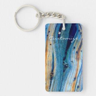 weathered juniper wood board keychain