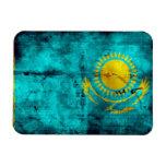 Weathered Kazakhstan Flag Flexible Magnet