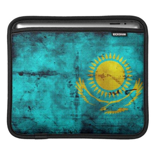 Weathered Kazakhstan Flag Sleeve For iPads