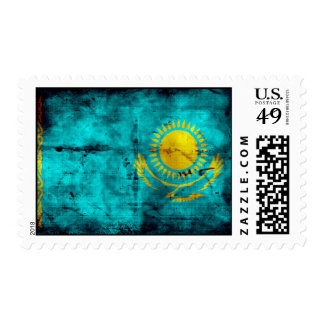 Weathered Kazakhstan Flag Stamp