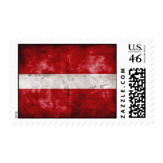Weathered Latvia Flag Postage