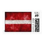 Weathered Latvia Flag Postage Stamps