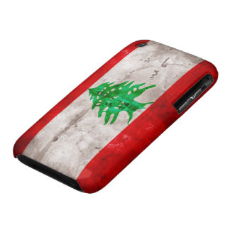 Weathered Lebanon Flag iPhone 3 Case-Mate Cases