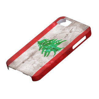 Weathered Lebanon Flag iPhone 5 Cover