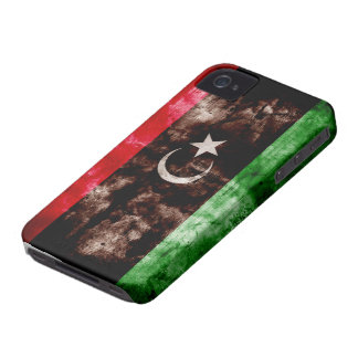Weathered Libya Flag iPhone 4 Covers