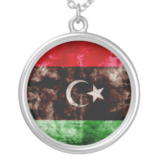 Weathered Libya Flag Pendants