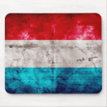 Weathered Luxembourg Flag Mousepads