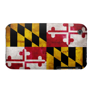 Weathered Maryland Flag Case-Mate iPhone 3 Cases
