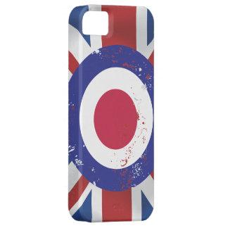 Weathered Mod Target on silk effect Union Jack iPhone SE/5/5s Case