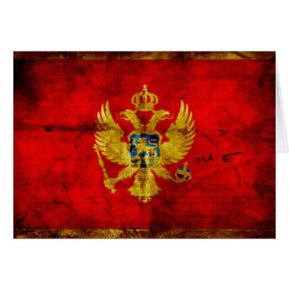 Weathered Montenegro Flag Card