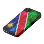 Weathered Namibia Flag iPhone 4 Covers