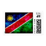 Weathered Namibia Flag Postage Stamp