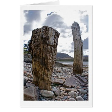 Art Themed Weathered Net Posts by the Loch Greeting Card