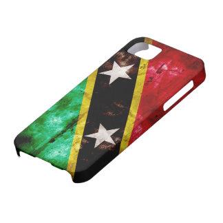 Weathered Nevis Flag iPhone SE/5/5s Case