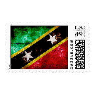 Weathered Nevis Flag Postage Stamps