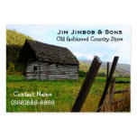 Weathered Old Barn and Farm Fence in the Country Large Business Cards (Pack Of 100)