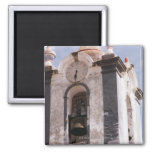Weathered, old-fashioned clock tower, Portugal 2 Inch Square Magnet