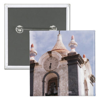 Weathered old-fashioned clock tower Portugal Pin