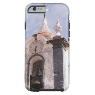 Weathered old-fashioned clock tower Portugal iPhone 6 Case