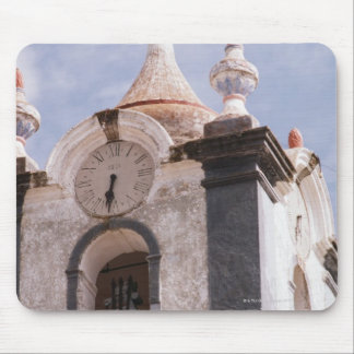 Weathered old-fashioned clock tower Portugal Mousepads