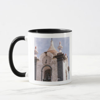 Weathered, old-fashioned clock tower, Portugal Mug