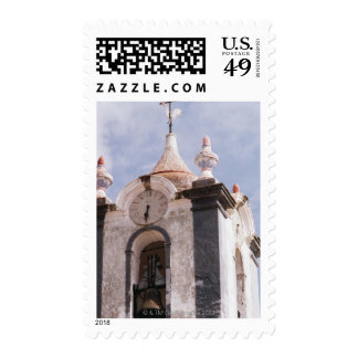 Weathered old-fashioned clock tower Portugal Stamps