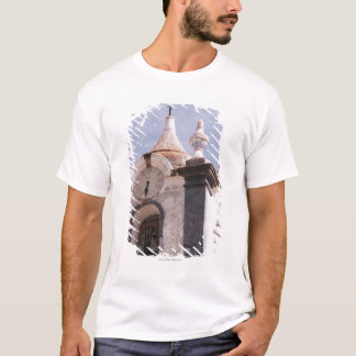 Weathered, old-fashioned clock tower, Portugal T-Shirt