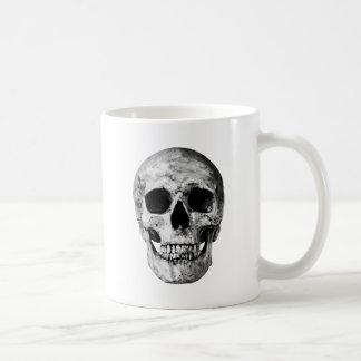 Weathered Old Skull - Black & White Coffee Mug