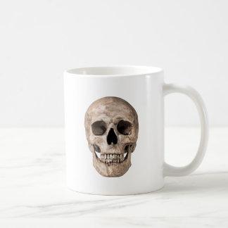 Weathered Old Skull Coffee Mug