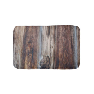 Weathered Old Wood Wall Texture Bathroom Mat