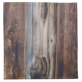 Weathered Old Wood Wall Texture Napkin