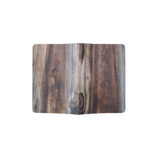 Weathered Old Wood Wall Texture Passport Holder