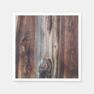 Weathered Old Wood Wall Texture Standard Cocktail Napkin