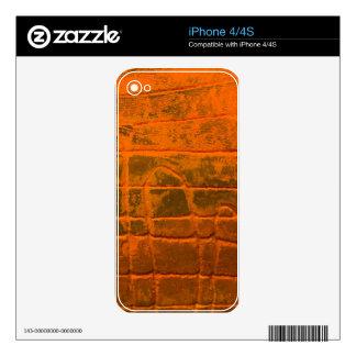 Weathered Orange Texture iPhone 4 Decals
